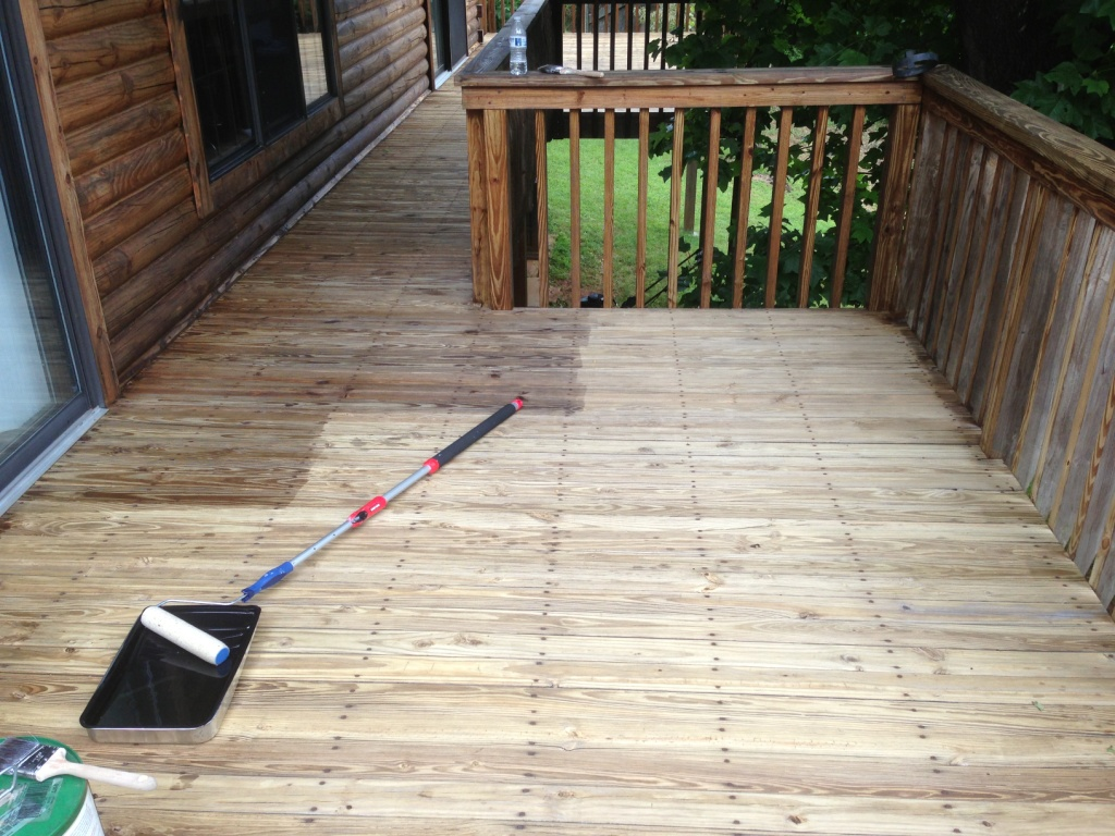 Sealing the deck