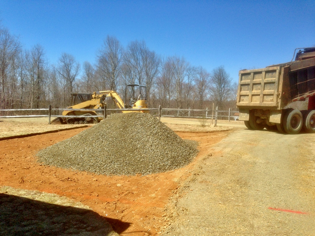 First load of crushed stone - Clean