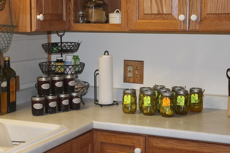pickles and blackberry jam