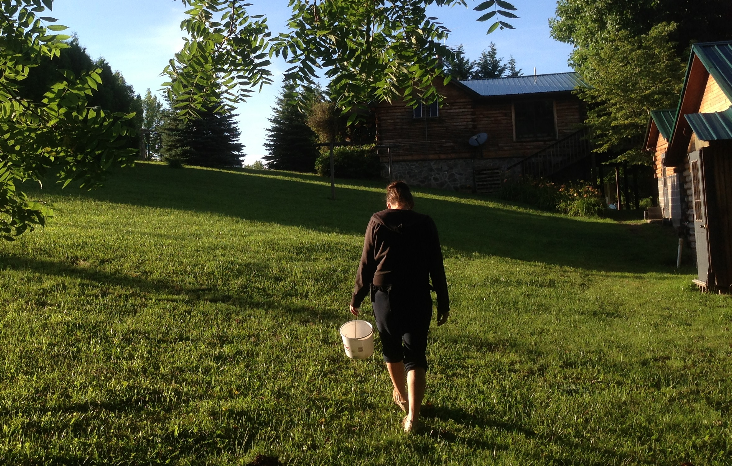 I get tired walking up the hill a few times when picking berries. I can only imagine having to haul water regularly.