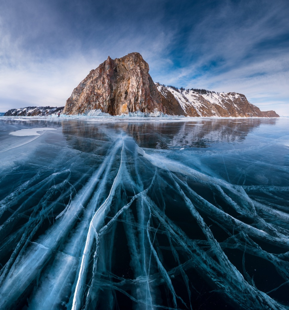 Frozen Lake Baikal - Clean