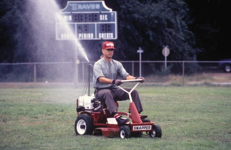 Choosing to mow simply because it needs to be done.